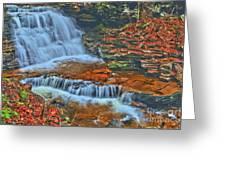 Rocky Pool Falls Greeting Card