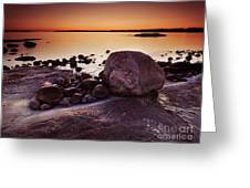 Rocky Shore At Twilight Greeting Card