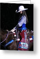 Rodeo Cowgirl Greeting Card