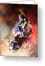 Rodeoscape 01 Greeting Card by Miki De Goodaboom