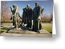 Rodin: Burghers Of Calais Greeting Card