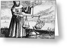 Roger Bacon Conducting An Experiment Greeting Card