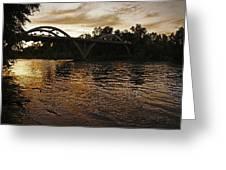 Rogue River Sunset Greeting Card