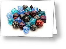Role-playing Dices Greeting Card