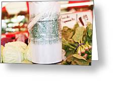 Roll Of Plastic Produce Bags In A Market Greeting Card by Jetta Productions, Inc