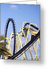 Roller Coaster Track Greeting Card