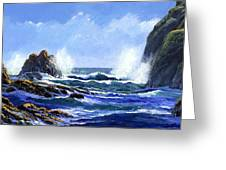 Rolling Surf Greeting Card
