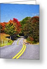 Rolling Thru West Virginia Impasto Greeting Card