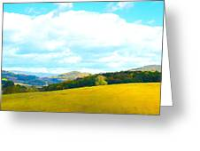 Rolling Yellow Hills Greeting Card