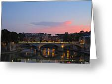 Roma Sunset Greeting Card by Tia Anderson-Esguerra