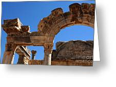 Roman Arch Ephesus Turkey Greeting Card