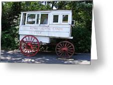 Roman Candy Wagon Greeting Card