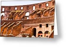 Roman Coliseum Interior Greeting Card
