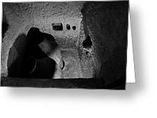 Roman Era Bathroom Carved Into Cave Greeting Card