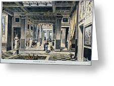 Roman House Interior Greeting Card