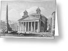 Roman Pantheon, 1833 Greeting Card