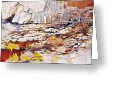 Roman Relicts Abstract 4 Greeting Card