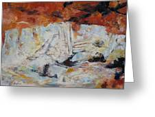 Roman Relicts Abstract 5 Greeting Card
