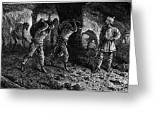 Roman Slavery: Coal Mine Greeting Card by Granger