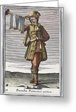 Roman Trumpet, 1723 Greeting Card