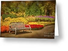 Romantic Flower Garden  Greeting Card