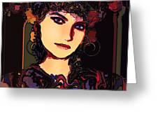 Romantic Lady Greeting Card
