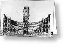 Rome: Colosseum, 1685 Greeting Card