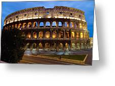 Rome Colosseum Dusk Greeting Card