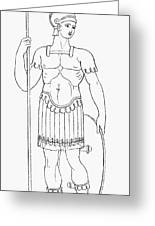 Rome: Foot Soldier Greeting Card