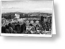 Rome: Scenic View, 1833 Greeting Card