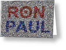Ron Paul Button Mosaic Greeting Card