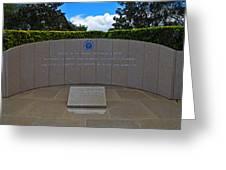 Ronald Reagan Memorial Greeting Card