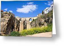 Ronda Bridge In Spain Greeting Card