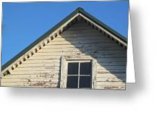 Roofline And Small Barn Facing North Greeting Card