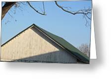 Roofline And Walnut Tree Greeting Card