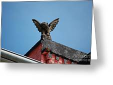 Rooftop Gargoyle Statue Above French Quarter New Orleans Poster Edges Digital Art Greeting Card
