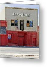Rooms And A Beer Sign Greeting Card by James Steele