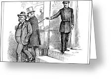 Roosevelt Cartoon, 1884 Greeting Card