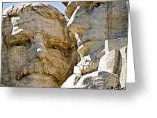 Roosevelt On Mt Rushmore National Monument Greeting Card