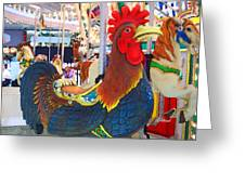 Rooster With An Attitude Greeting Card