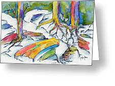 Roots And Rocks Greeting Card