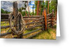 Rope On Fence Greeting Card