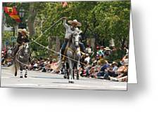 Roping Vaquero Greeting Card