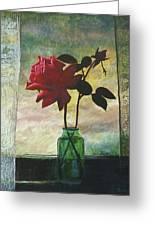 Rose And Rosebud Greeting Card