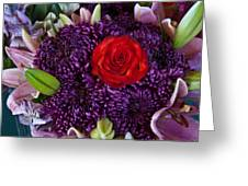 Rose Center Of Attention Greeting Card