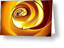 Rose Series - Gold Greeting Card