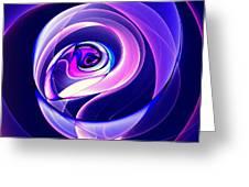 Rose Series - Violet-colored Greeting Card