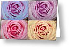 Rose Spiral Colorful Mix Greeting Card
