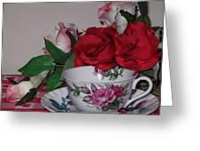 Rose Tea Greeting Card