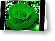 Rose With Green Coloring Added Greeting Card